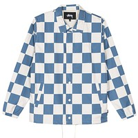 Checker Coach Jacket in Slate