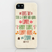 Buddy the Elf! The Four Main Food Groups iPhone & iPod Case by Noonday Design