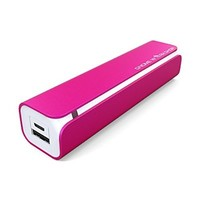 Portable iPhone Charger (3000mAh Power Bank) with LED indicator light by Gnome Workshop®. Pocket size and Compatible with Apple Watch. Never run out of power again! - (Pink)