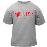 Nike Ohio State Buckeyes Toddler Classic Arch T-Shirt - Ash - http://www.shareasale.com/m-pr.cfm?merchantID=7124&userID=1042934&productID=528454780 / Ohio State Buckeyes