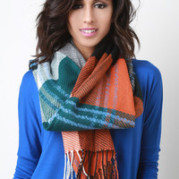 Sport Plaid Knit Scarf