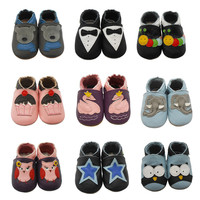 Sayoyo Fashion Cow Leather Baby Moccasins Soft Soled Baby Boy Shoes Girl Newborn Infant Crib Shoes First Walkers Free Shipping