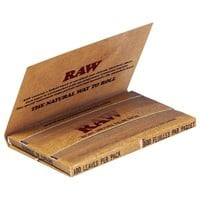 RAW Natural Single Wide Twin Pack Hemp Rolling Papers - Single Pack