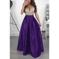Elegant Sequin Formal Evening Party Prom Gowns