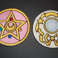 Sailor Moon Locket Iron On Patch Set