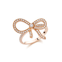 Bow Rose Gold & Pave Diamond Ring by Ivanka Trump at Gilt
