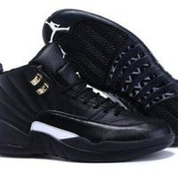 Cheap Air Jordan 12 XII Retro Men Shoes All Black