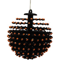 Halloween HALLOWEEN SPINY ORNAMENT BLACK Plastic NT0064 BLACK