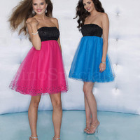 Charming Empire Waist Tulle Prom Dress from SinoSpecial