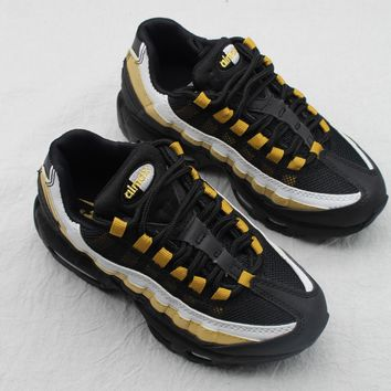 Nike Air Max 95 Child Shoes Black White Gold Toddler Kid Shoes