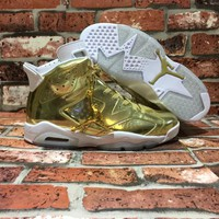 Nike Air Jordan 6 VI Pinnacle Metallic Gold Basketball Sneaker