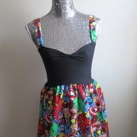 Marvel Avengers Comic Babydoll Party Dress