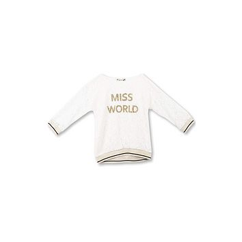 Speechless Big Girls' Banded Bottom Top, Ivory Lace Miss World, S