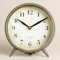 Small Dark Galvanized Metal Charlie Clock - World Market