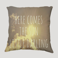 """Throw Pillow-Home Decor- """"Little Darling"""" 18 x 18 Pillow-Typography--Sunshine & Clouds-Home Decor- - $35.00 - Handmade Home Decor, Crafts and Unique Gifts by Vintage Skies Photography & Designs"""