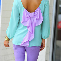 I Love You So Blouse: Mint/Lavender | Hope's