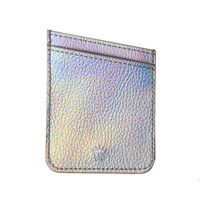 Silver Holo Phone Wallet