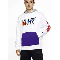 Nike Game Changer Club Tide brand loose hooded pullover white