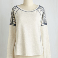 Boho Mid-length Long Sleeve My Own Free Chill Top