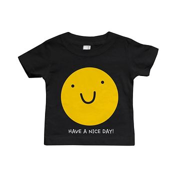 Graphic Snap-on Style Baby Tee, Infant Tee - Have A Nice Day