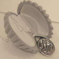 """H20 Just Add Water EXACT Replica Locket Necklace like H2O Mermaids Sterling Silver 925 """"Faceted gemstones"""""""