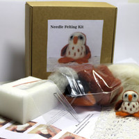 Needle Felting Kit, DIY  Owl Craft Kit, Needle Felting Hobby, Wool Kit