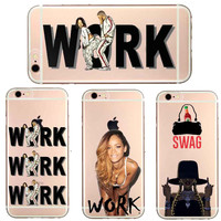 Super star Rihanna Drake Work Beyonce Flawless Swag Hard plastic Case Cover for iPhone 4 4S 5C SE 5 5S 6 6S 6Plus 7 7Plus cases