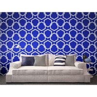 Tempaper® Removable Wallpaper in Honeycomb Metallic Blue