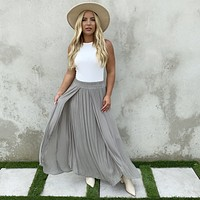 Sea Of Cortez Maxi Skirt In Olive