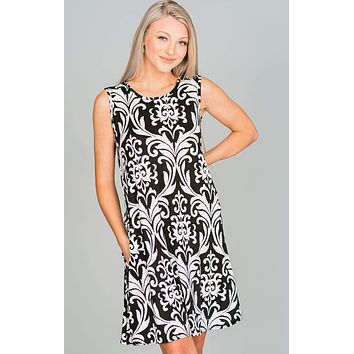 Damask Shift Dress