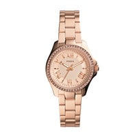 Cecile Small Rose Tone Stainless Steel Watch | Fossil