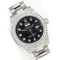 Rolex Fashionable Pink Watch Women Quartz Watch Wrist Watch White Diamond B