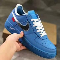OFF-WHITE x NIKE AIR FORCE 1 Tide brand wild men and women sports shoes