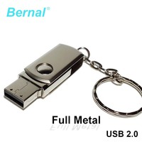 Bernal high speed USB 2.0 FLASH DRIVE DISK metal rotate MEMORY USB PENDRIVE 8GB 16GB 32GB 64GB 128GB usb flash drives flash disk