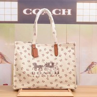 COACH WOMEN'S LIMITED EDITION CANVAS PRINTING TOTE BAG HANDBAG