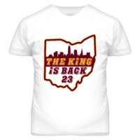 The King is Back Basketball T Shirt - Lebron James Cleveland Cavaliers