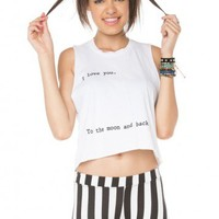 Brandy ♥ Melville |  I Love You To The Moon And Back Tank - Clothing