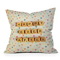Happee Monkee Happy Ever After Throw Pillow