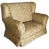 Angel Song 121220187 Firenze Gold Child Wingback Loveseat