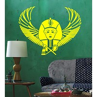 Vinyl Wall Decal Egyptian Pharaoh Wings Egypt Ancient World Stickers Unique Gift (ig4764)