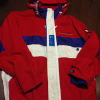 Vintage 1990s Rare  Tommy  Hilfiger Sailing KevLar Jacket Rare Throwback Oldschool