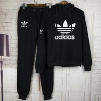 Tagre™ Adidas:Sleeve Shirt Sweater Pants Sweatpants Set Two-Piece Sportswear