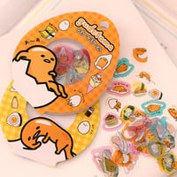 Sanrio Gudetama Egg Trendy 60 Piece Pack Label Stickers Scrap booking notebook laptop