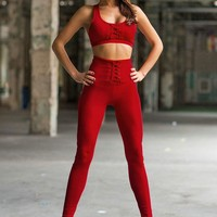 High Waist Legging & Cropped Top Activewear Set