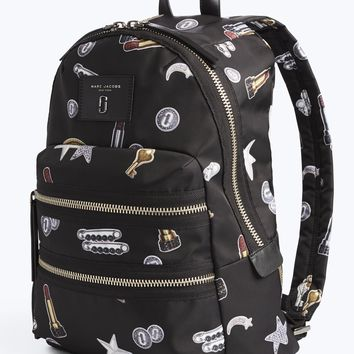 Tossed Charms Printed Biker Backpack | Marc Jacobs