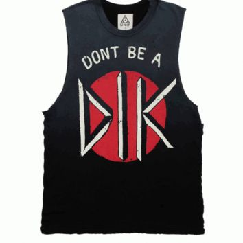 Unif – Don't Be A D.I.K Muscle Tank In Black|Thirteen Vintage