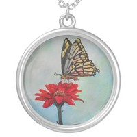 Butterfly Art Pendant