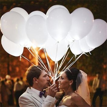 10pc Glow LED Balloons Cocktail Evening Party Decor Wedding Balloons