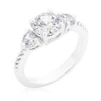 Graduated Engagement Classic Ring, size : 05