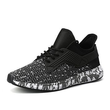 Men's Comfort Shoes Tissage Volant Summer Sporty / Casual Athletic Shoes Fitness & Cross Training Shoes / Walking Shoes Breathable Black / Gray / Non-slipping / Wear Proof